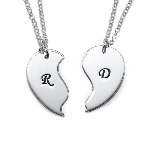 Sterling Silver Breakable Heart Necklaces - 1