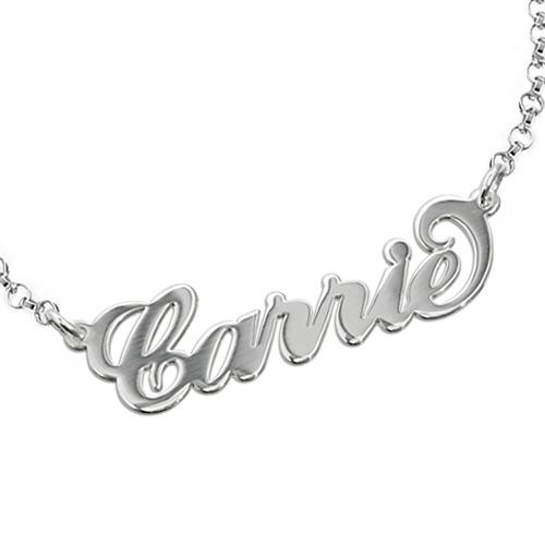 "Sterling Silver ""Carrie"" Style Name Bracelet / Anklet"
