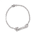 "Sterling Silver ""Carrie"" Style Name Bracelet / Anklet"