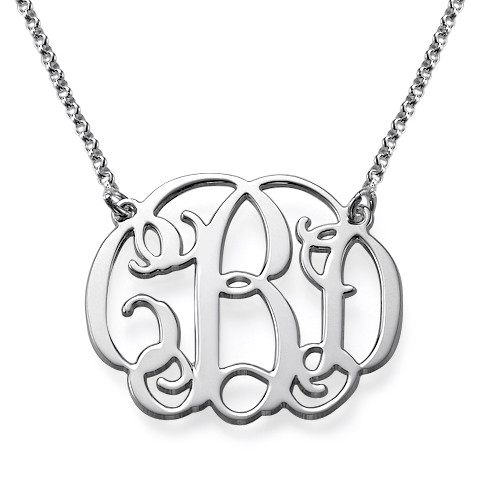 Sterling Silver Celebrity Monogrammed Necklace
