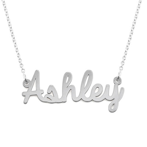 Sterling Silver Cursive Name Necklace - 1