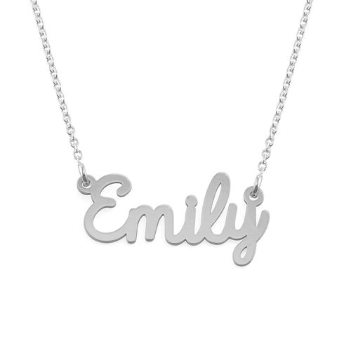 Sterling Silver Cursive Name Necklace - 2
