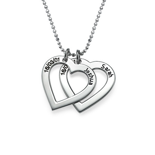 Sterling Silver Engraved Heart Necklace - 1