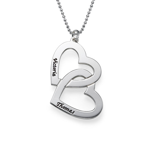 Sterling Silver Heart in Heart Necklace