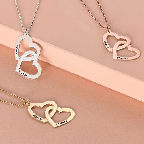 Sterling Silver Heart in Heart Necklace - 1