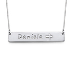 Sterling Silver Icon Bar Necklace