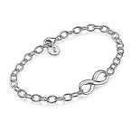 Sterling Silver Infinity Initial Bracelet