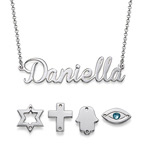 Sterling Silver Name Necklace with Charm