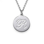 Sterling Silver Script Initial Necklace