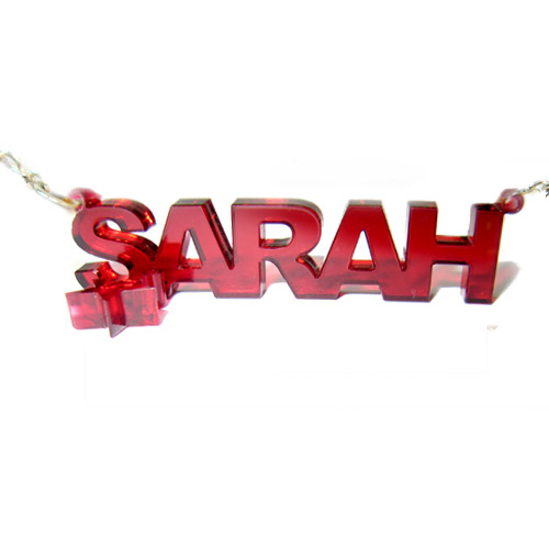 Stylish Color Name Necklace with your choice of charm - 2