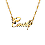 Tiny Name Necklace with 18k Gold Plating - Extra Strength