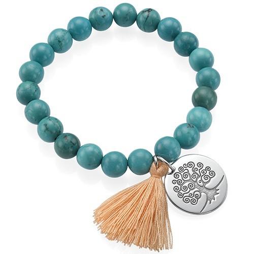 Tree of Life Yoga Bead Bracelet