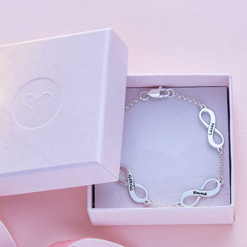 Multiple Infinity Bracelet in Silver - 5
