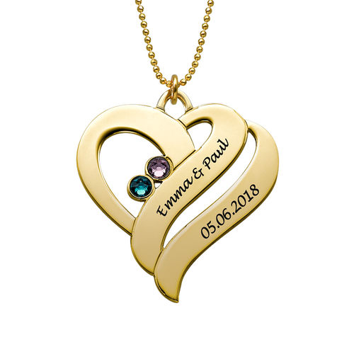 Two Hearts Forever One Necklace - 10k Gold - 1