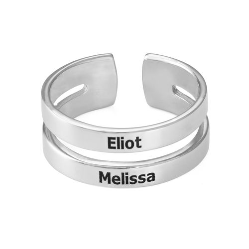 Two Name Ring in Silver - 1