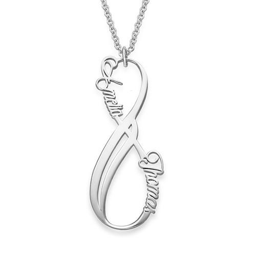 Vertical Infinity Name Necklace