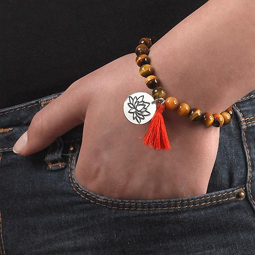 Yoga Jewelry - Lotus Flower Bead Bracelet - 5