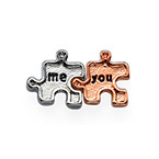 You & Me Puzzle Charm for Floating Locket