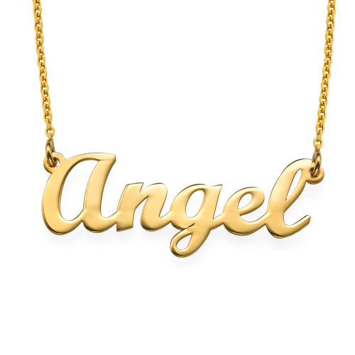 18k Gold-Plated Silver Script Style Name Necklace