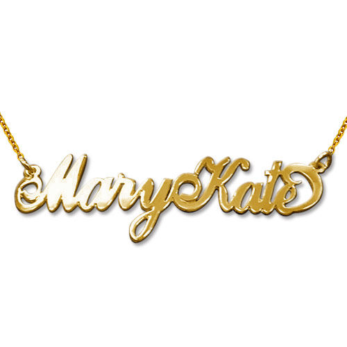 "Two Capital Letters 18k Gold-Plated Sterling Silver ""Carrie"" Style Name Necklace"
