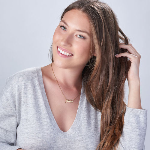 Small 18k Gold-Plated Silver Classic Name Necklace - 2
