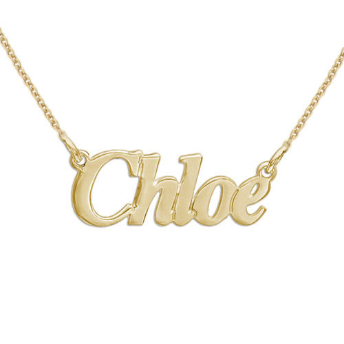 Small Personalized 18k Gold-Plated Sterling Silver Name Necklace