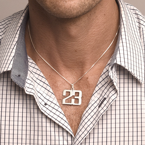 Sterling Silver Number Necklace - 1