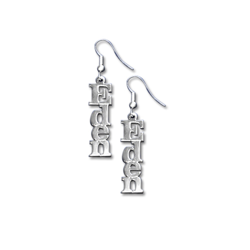 Sterling Silver Name Earrings