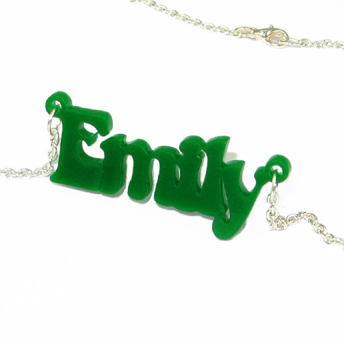 That 70's show Style Color Name Necklace - 1