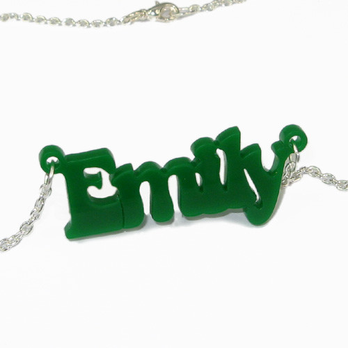 That 70's show Style Color Name Necklace - 2