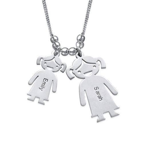Mom and Children Charms Necklace - 1