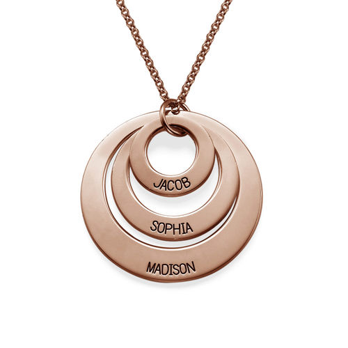 Jewelry for Moms - Three Disc Necklace with Rose Gold Plating