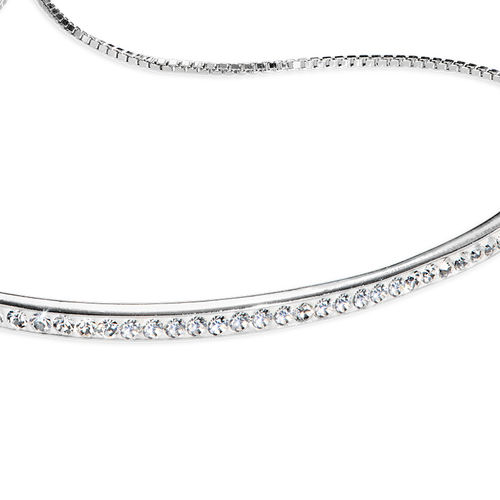Adjustable Bar Bracelet with Cubic Zirconia - 1