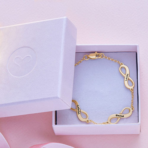 Multiple Infinity Bracelet in Silver with Gold Plating - 5