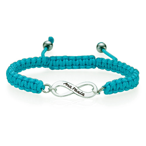 Blue Infinity Friendship Bracelet