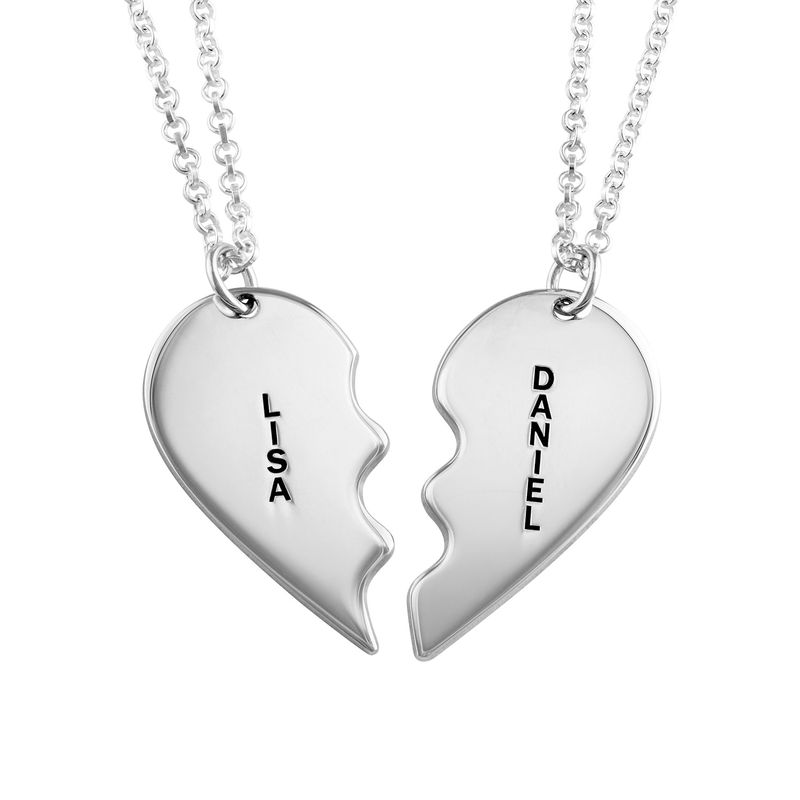 6d9de0a428 Broken Heart Necklace for Couples in Silver | My Name Necklace Canada