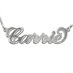 Sterling Silver Carrie-Style Name Necklace product photo