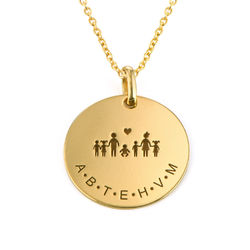 Family Necklace for Mom in 18K Gold Plating product photo