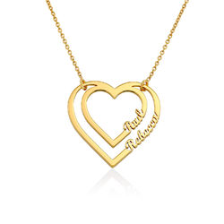 Margarita v02-18k Gold Finished Heart Pendant Luxury Necklace Personalized Name Gifts