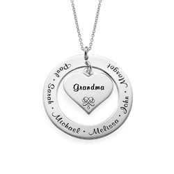 Mother or Grandmother Necklace in Sterling Silver product photo