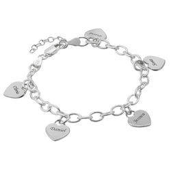 Mother's Personalized Heart Charm Bracelet product photo