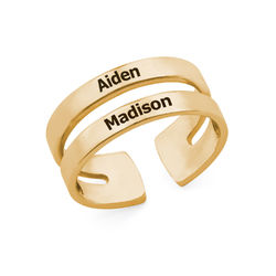 Two Name Ring with Gold Plating product photo