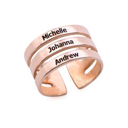 Three Names Ring in Rose Gold Plating product photo