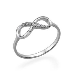 Cubic Zirconia Infinity Ring product photo