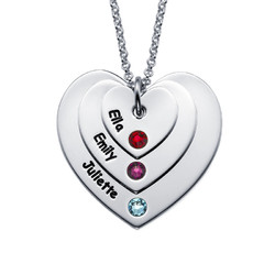 Birthstone Heart Necklace for Moms product photo