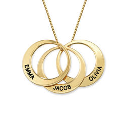 Multiple Ring Necklace in Gold Plating product photo