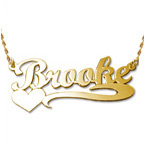 14k Gold Heart Name Necklace