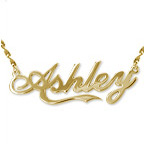"Personalized 14K Gold ""Coca Cola"" Font Name Necklace"