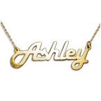 Stylish 14k Yellow Gold Name Necklace