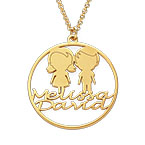 Mother Circle Necklace in Gold Plating